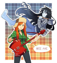 Girls with axes by DAV-19