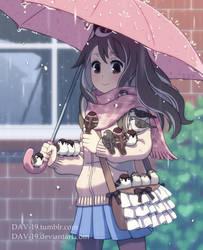 Sparrows under the umbrella by DAV-19
