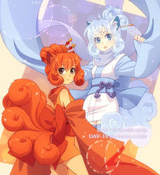 Vulpix and Alola Vulpix by DAV-19