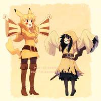 Pikachu and Mimikyu by DAV-19