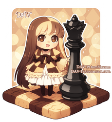 Checkerboard Cookie by DAV-19
