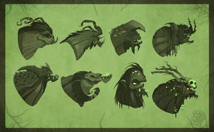 orc heads by Brett2DBean