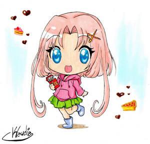 Girl Chibi_Poky- Cake and Chocolate Hearts by Klaudia-Ayame