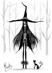 Commission: Witch in the forest by Klaudia-Ayame