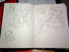 Radio Show Live Sketching by leeoconnor