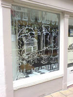 Drift Shop Window Drawing by leeoconnor