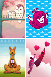 Some Greetings Cards by leeoconnor