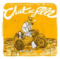 Chat et Fille by leeoconnor