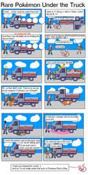 Rare Pokemon Under the Truck by FruitfulMelonCauli