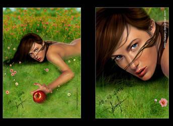 EVA IN MY GARDEN color by AURORY