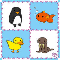 Cute Water Animals by Crooty