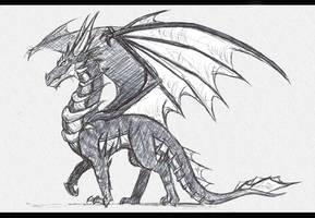 Dragon Sketch by DragonMaster137