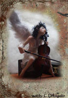 Heavenly Cellist C by cdlitestudio