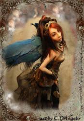 Steampunk Angel Time Traveler by cdlitestudio