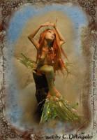Mermaid sculpture by cdlitestudio