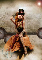 Steampunk Princess front view by cdlitestudio