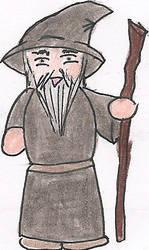 Gandalf Cartoon by deviant-rohain