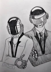 Daft Punk [SketchTober] by 2D-Dipper