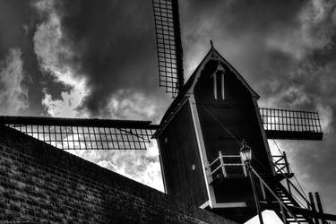 Windmill in Autumn Weather by JacqChristiaan