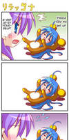 Konota and Kagami comic by Neko-nekochan23