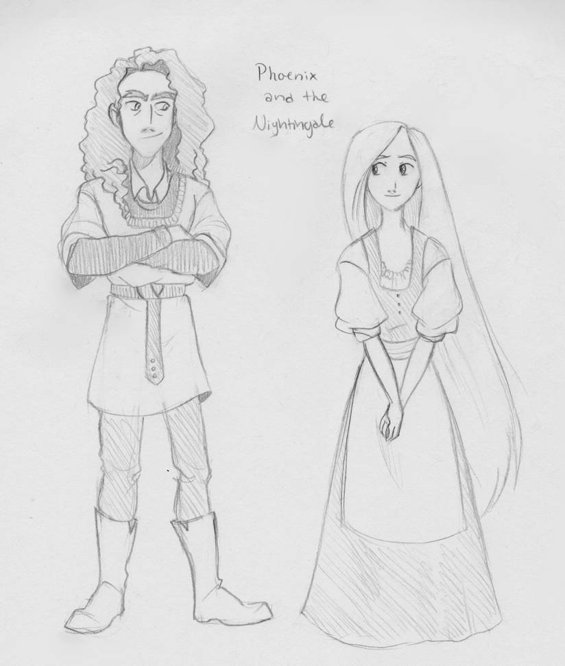 Anime Phoenix And The Nightingale By Chrissyissypoo19 On Deviantart