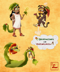 Chibi Quetz and Tezca by Chrissyissypoo19