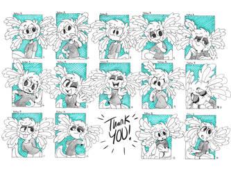 Tidbit Drawings (for kickstarter) by NathanButlerArt