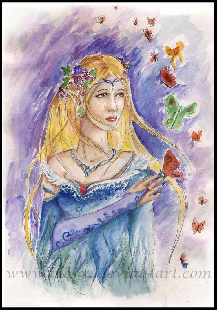 Elven portrait by Ines92