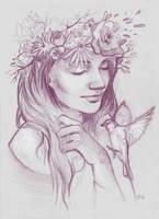 Selfportrait sketch by Ines92
