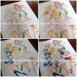 COLORING 2: Sailor Guardians - Sailor Moon Crystal by Ardeuccia92