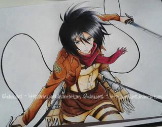 Mikasa Ackerman - Attack on Titan by Ardeuccia92
