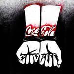 Anti- Coca- Cola Stencil by myspeedofdark