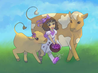 purple and cows by Kplmr