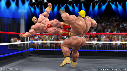 Hard Body Wrestling 02 by lucky-stallion