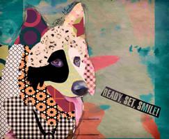 Pop art dog (Old German Shepherd) by FlorendePM
