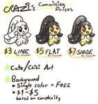 CRAZ1's Commission Prices by CRAZ1