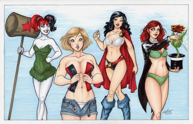 DC Girls Dress Up by SerenaGuerra