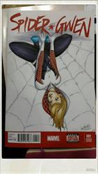 Spider Gwen Sketch Cover by SerenaGuerra