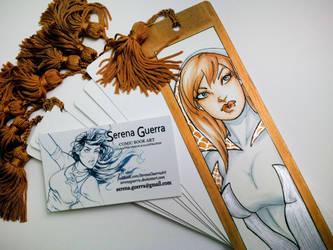 SpiderGwen Sketch bookmark by SerenaGuerra