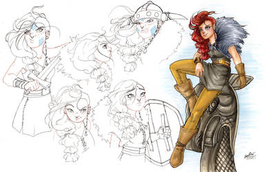 Viking Girl Character Sheet by SerenaGuerra