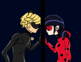 The Ladybug and the Black Cat by JackHammer86