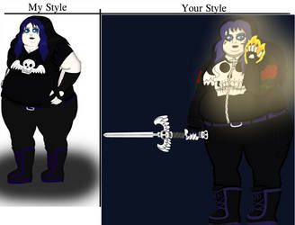 Creator's style vs my style with Rosa Gateman by JackHammer86