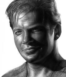 Captin Kirk Smiling by RodgerHodger