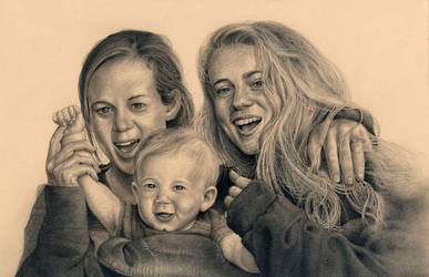 Commission - The Johnson girls. by RodgerHodger