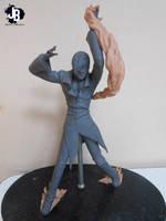 Iori yagami esculpture by JBerlyart