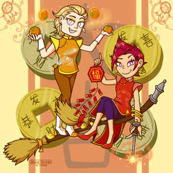 Wizardly Lunar New Year by MeganLovesAngryBirds
