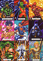 Cryptozoic Justice League sketch card block. by warpath28