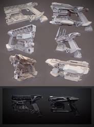 Heavy pistol clay render by Crashmgn