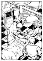 Dead 4 Seven, comic page by TFGuillen