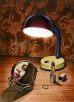 Still Life with a Mirror by RezoKaishauri